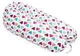 SCAMP Stillkissen universales Schwangerschaftskissen inkl. Bezug verschiedenes Design NEU (Colorful Heart)