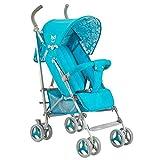 SCJ Kinderwagen aus Aluminium für Kinder, Leichter klappbarer Kinderwagen, atmungsaktiv/Anti-Moskito/Anti-Prise/Dämpfung - sicherer und komfortabler Kinderwagen,Blue