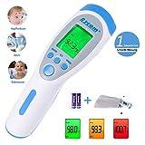 Fieberthermometer Stirnthermometer Kinder und Erwachsene, Digitales Medizinisch Kontaktlos Infrarot...