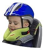SANDINI SleepFix Kids BIKE – Kinder Schlafkissen/Nackenkissen mit Stützfunktion, Temperaturausgleich – Kindersitz-Zubehör für Fahrrad und Fahrradanhänger – Verhindert Abkippen des Kopfes im Schlaf