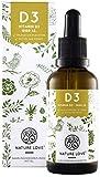 NATURE LOVE Veganes Vitamin D3 (Cholecalciferol) 1000 IE. - 25 µg. Gewonnen aus Flechten, Premium: Vitashine Rohstoff. Flüssig, in Tropfen. Vegan, hoch bioverfügbar & hergestellt in Deutschland