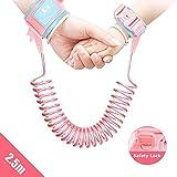 Lehoo Castle Kinder Sicherheitsleine, Kinder Leine Handgelenk, Anti-verloren Gürtel Handgelenk Link (2.5m Rosa)