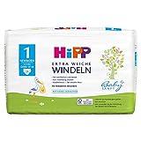 HiPP Babysanft Windeln für Säuglinge, Mit Nässeindikator, Gr. 1, Geeignet von 2-5 kg, Gr. 50-56, 24 Stück