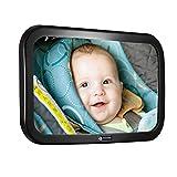 Rücksitzspiegel für Babys 360° Schwenkbar Autospiegel Baby Bruchsicherer Babyschalenspiegel...