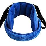 DIVAND Kindersitz-Head-Unterstützung, Adjustable Kindersitz-Hebe-Support-Band-Eine komfortable sichere Schlaflösung,Blue