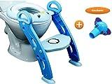 PREMIUM Baby Toiletten Trainer mit Leiter/Treppe für Kinder, Töpfchen-Trainer für Jungen in Blau...