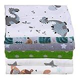 ClevereKids Molton Flanellwindeln | 6er-Pack | Kindermotive | gebürstete Baumwolle | Ökotex Standard 100 | flauschige Kuschelqualität (Set Unisex)