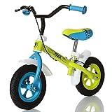 LCP Kids Kinder Laufrad Trax ab 2 Jahren; Seilzug Bremse; Bis 20 kg; Ergonomischer Sattel; Grün