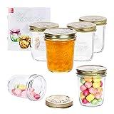MamboCat 6er Set Quattro Stagioni Glasdose 320 ml Compound im Deckel Vorrats-Behälter Aufbewahrungs-Dose Dessert-Gläschen Früchte-Becher Lebensmittel konservieren