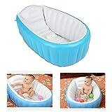 Aufblasbare Baby Badewanne Faltbare Reisedusche für Neugeborene (Blau)