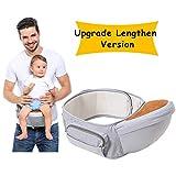 Wemk Babytrage Einstellbar länger Gürtel 53''/135cm Baby-Hüftsitz Taille Hocker für 0-36...