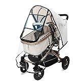 HOKEKI Universal Komfort Regenschutz für Kinderwagen, für Buggys, für Sportwagen, Regenhaube für...
