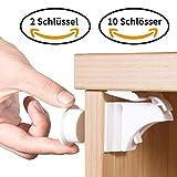 Norjews Baby Sicherheit Magnetisches Schrankschloss(10 Schlösser + 2 Schlüssel) (20 Schlösser + 3...