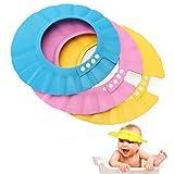 EROSPA Baby Bade-Dusch-Haube Kopfhaube Wasser-Spritzschutz verstellbar Shampoo-Augenschutz beim...