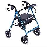 UUOO Senioren helfen Einkaufswagen, Aluminium-Laufkatze Folding Walker