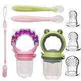 Fruchtsauger Baby Obst Fütterung Babynahrung Rassel Schnuller Spielzeug für Kleinkinder (Mädchen, 8 stück)