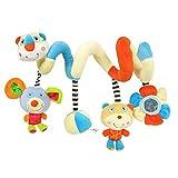 Heiße Verkäufer  Labebe Activity Spiral, Bunte Puppen Kinderwagen Spielzeug mit Bär & Maus für Unisex Baby, Baby Spielzeug Kinderwagen/Spiral Kind/Bunte Spiral Groß/Spiral Maxi Cosi/Spiral Teddy/Kind Spiral Bunt
