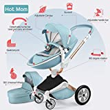 Hot Mom Kombikinderwagen 3 in 1 Funktion mit Buggy und Babywanne 2018 neues Design