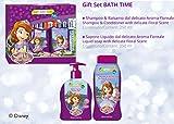 Geschenkset für Mädchen Baby Kinder Disney Prinzessin Sofia - Shampoo & Conditioner 250 ml + Flüssigseife 250 ml;