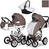Eurocart DURANGO Latte 3in1 Kombikinderwagen Babywanne Buggy Autositz Babyschale 0-10 kg Alu und...