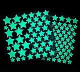 Leuchtsterne selbstklebend, im Dunkeln leuchtende Sterne, Sternenhimmel, Wandsticker, Leuchtsticker, Leuchtaufkleber, Wandaufkleber, fluoreszierend, Dekoration für Kinderzimmer, Schlafzimmer, (148)