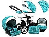 +++ SALE Raff White Lux System Kinderwagen Babywagen Buggy, Autositz Kinderwagen System 3 in1 +...