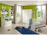 Babyzimmer Bibi komplett Sets verschiedene Ausführungen (Babyzimmer Bibi 4-teilig, Alpinweiß, Apfelgrün)