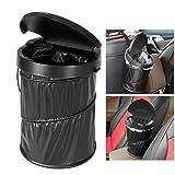WINOMO Tragbare Auto Mülleimer Wasserdicht Zusammenklappbare Pop-up Papierkorb Müllbehälter mit Deckel mit 30 stücke Weiß Müllsäcke