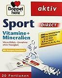 Doppelherz Sport DIRECT mit Orangen-Geschmack / Nahrungsergänzungsmittel mit B-Vitaminen und Mineralien für Sportler und körperlich Aktive / 20 Portionen (20 x Micro-Pellets = 40 g)