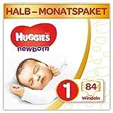Huggies Newborn Baby Windeln für Neugeborene, Größe 1, 1er Pack (1 x 84 Stück)