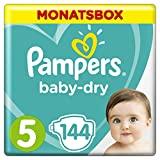 Pampers Baby Dry Windeln, für atmungsaktive Trockenheit, Gr. 5 (11-16 kg), Monatsbox, 1er Pack (1 x...