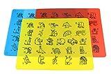 Platzset für Kinder, Silikon Tischset 4 Stück - Platzdeckchen/Platzmatten im 4er Set -...
