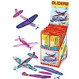 Gleitflugzeuge - zum Spielen für Kinder - als Preis und Mitgebsel für den Kindergeburtstag - 6...