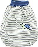 Schnizler Unisex Baby Schlafsack Strampelsack Schildkröte mit elastischem Umschlagbund, Oeko Tex Standard 100, Grün (Grün 29), One size