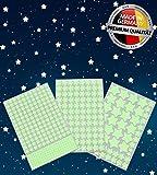 452 Leuchtsterne / Leuchtpunkte für deinen Sternenhimmel - selbstklebend und fluoreszierend