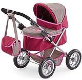 Bayer Design 1307800 - Puppenwagen Trendy, grau/pink