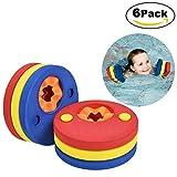 Lynlon 6 x Schwimmscheiben | Schwimmflügel Zum Schwimmen für Kleinkinder 1-6 Jahre, Kids Schwimmhilfe Armbinden Schwimmer Discs | Schaum Schwimmen Armbands