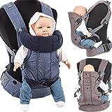 3 in 1 Baby Bauchtrage / Rückentrage (Stark gepolsterter Schultergurt) Füllung: (100% BAUMWOLLE)...