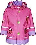 Playshoes Baby - Mädchen Regenbekleidung 408583 Regenmantel/Regenjacke Glückskäfer, Gr. 80, Rosa...