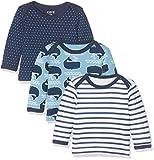 Care Baby-Jungen Langarmshirts Barba, 3er Pack, Mehrfarbig (Deep Skye Blue 720), 86