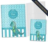 U-Heft Hülle 3-teilig Set Blue Nature Untersuchungsheft Hülle & Impfpasshülle schöne Geschenkidee personalisierbar mit Namen und Geburtsdatum (U-Heft Set 3-teilig personalisiert, Dino)