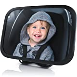 Rücksitzspiegel für Babys aus bruchsicherem Matarial - Autositz-Spiegel 24.5 x 17.5 cm - Auto...