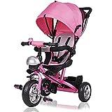 Dreirad Kinderdreirad Kinder Fahrrad Rad Baby Kleinkinder klappbares Sonnendach Elternlenkung viele...