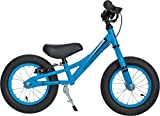 PROMETHEUS Kinderlaufrad 12 Zoll Junge in Blau Schwarz | Sicherheits - Laufrad mit V-Brake Bremse | ab 2,5 Jahren | 12' Toddler Edition 2017