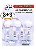 Kleiner Elefant 8+3 magnetisches Schrankschloss und unsichtbare Kindersicherung für Babys. Ohne...
