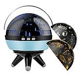 MojiDecor Sternenhimmel Projektor Lampe Baby Nachtlicht 360° Rotierend mit 3 Projektionslampe Kappen Ozean Universum Sternhimmel, USB/Batterie Betrieben, Perfekt für Parteien,Kinderzimmer,Weihnachten