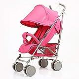 SCJ Kinderwagen aus Aluminium, Faltbarer Kinderwagen, tragbar/wasserdicht/atmungsaktiv/leicht - (0-3 Jahre)