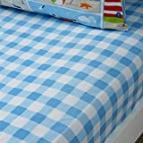 Bedlam Patch Seaside Kinder Spannbetttuch, Junior, Polyester-, Multi, 140x 70x 15cm