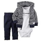 ARAUS Baby Kleidung Set Jungen Romper Langarm Sweatjacke Mädchen Outfits Hoodie Kombination 3-18...