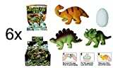 6x Dino Ei - schlüpfender Dino - cooles Dino Geschenk - Kindergeschenk - Mitgebsel
